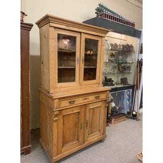 1880's Honey Pine Kitchen Cabinet Preview