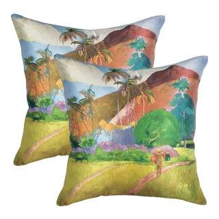 Gauguin Sunny Pillows - a Pair For Sale