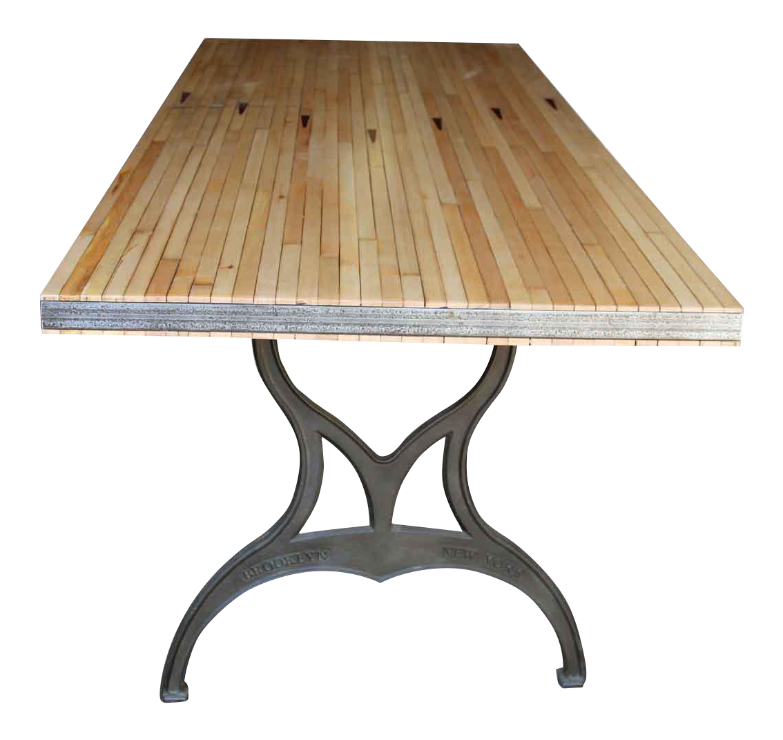 Bowling Alley Table With Arrows U0026 Brooklyn Legs