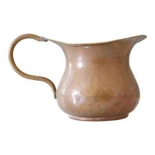 Vintage Copper Creamer Cream Pitcher Primitive Handmade
