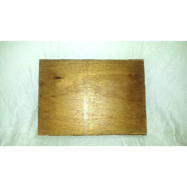 Brown Vintage Bamboo Serving Tray For Sale - Image 8 of 8