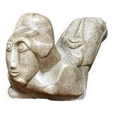 Image of 20th Century Abstract Marble Sculpture For Sale