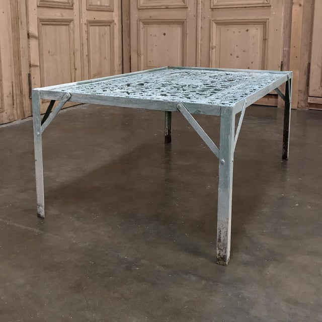 19th Century Iron Panel Coffee Table For Sale In Dallas - Image 6 of 12