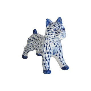 Blue & White Porcelain Dog