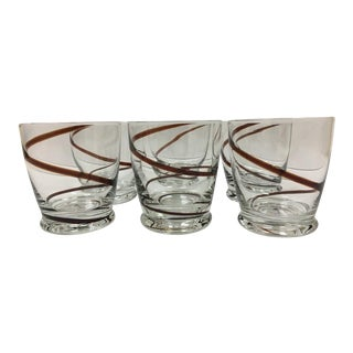 Hand Blown Juice Glasses by 1Source Glassware Inc. - Set of 6 For Sale