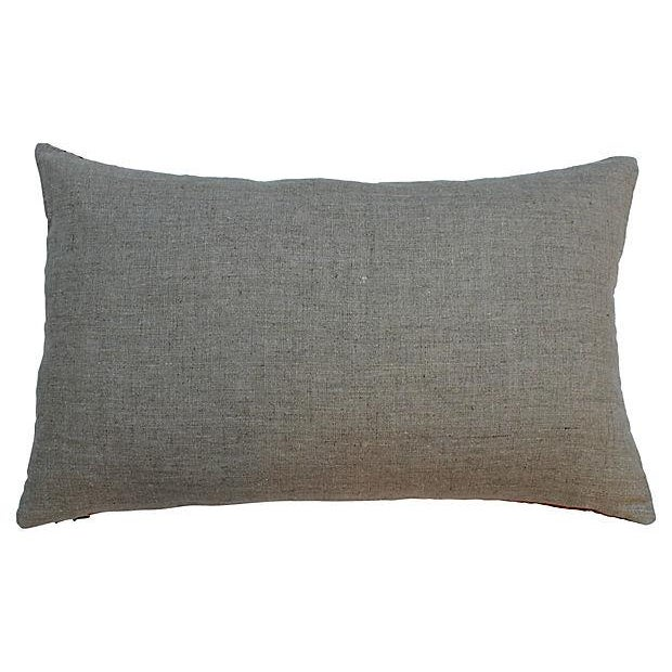 Gold Embroidered Silk Boudoir Pillow - Image 4 of 4