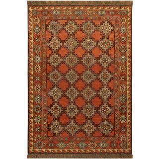 1990s Southwestern Soumakh Makhana Rust/Rust Wool Rug - 3'1 X 5'0 For Sale