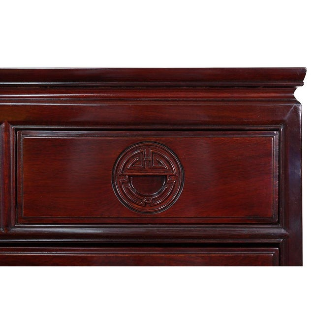 Mid 20th Century Vintage Chinese Carved Rosewood Chest of Drawers For Sale - Image 5 of 13