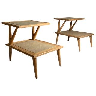 Pair of Jack Van Der Molen Step End Tables For Sale