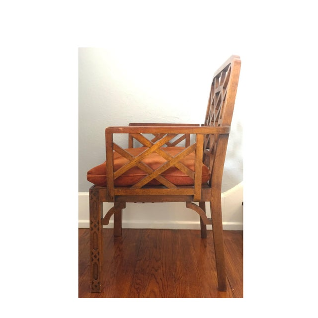 Mid-Century Chinese Chippendale Armchairs - A Pair - Image 2 of 5