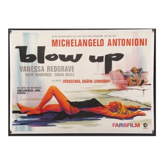 "1967 Vintage MIchelangelo Antonioni's ""Blow Up"" German Film Poster For Sale"