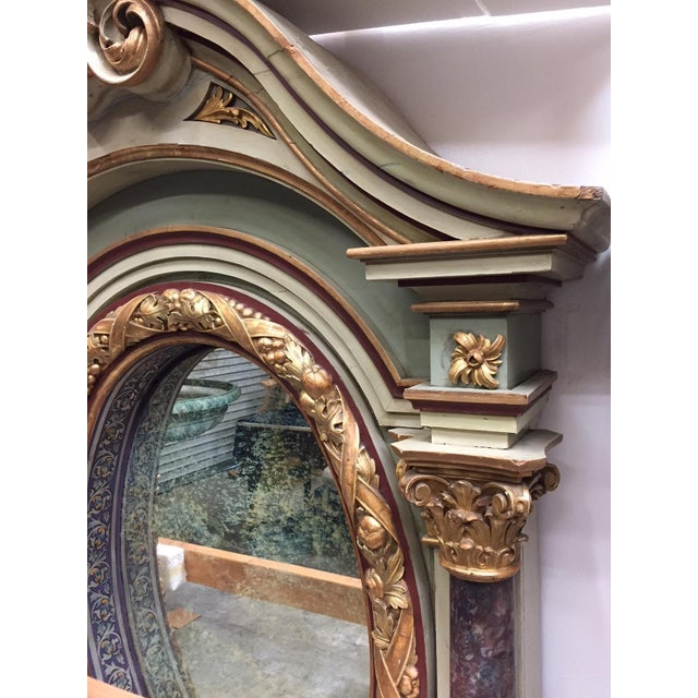 Early 19th Century Italian Painted Over Mantel Mirror, 19th Century For Sale - Image 5 of 10