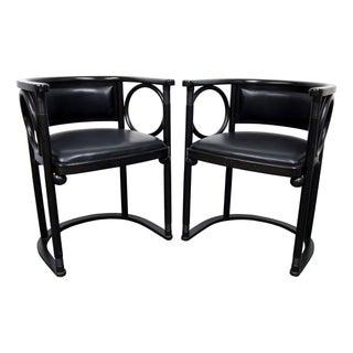 Black Josef Hoffman Fledermaus Chairs - Set of 3