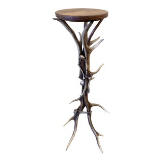 1890s Rustic Antler Side Table For Sale