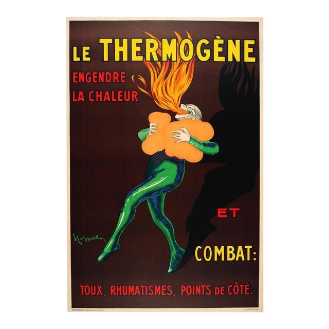"Vintage French Poster Cappiello ""Le Thermogene"", Unframed For Sale"