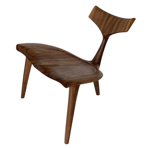 "Sculptural Walnut ""Whale"" Chair Morten Stenbaek For Sale - Image 13 of 13"