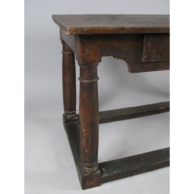 Italian 18th Century Antique Italian Walnut Table For Sale - Image 3 of 8