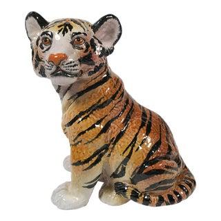 Italian Ceramic Tiger Cub