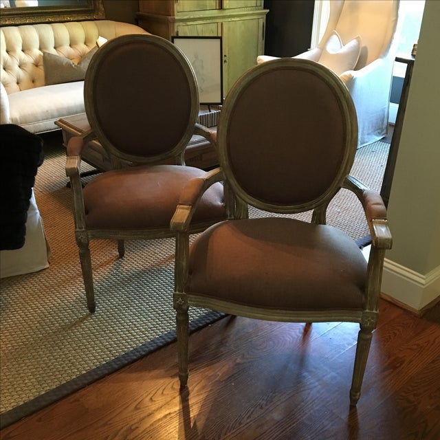 Louis Arm Chairs - a Pair - Image 2 of 8