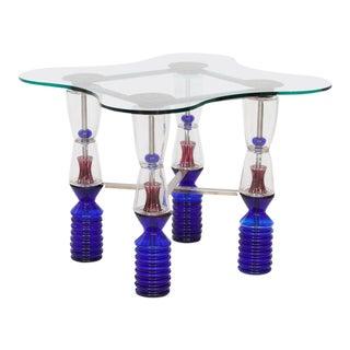 One-of-a-Kind Van Praet & Val Saint Lambert Crystal Gaming Table For Sale
