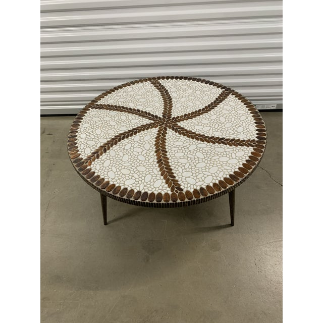 Vintage Mid-Century Modern Tile Coffee Table For Sale - Image 10 of 10