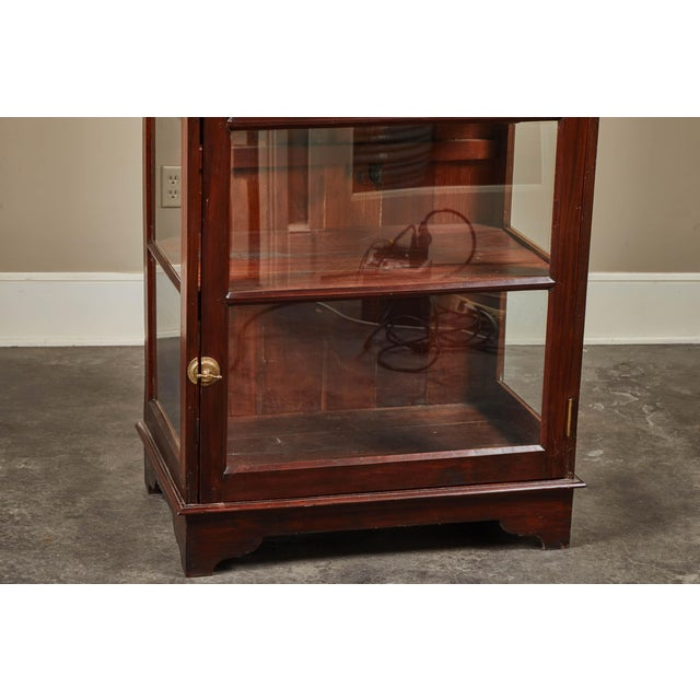 Brown 20th C. Sri Lankan Single Door Display Cabinet For Sale - Image 8 of 10