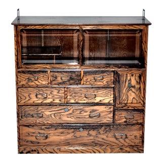 Antique Japanese Cha Dansu Cabinet