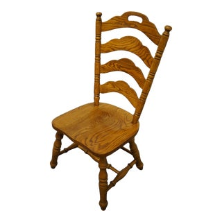 Virginia House Oak Rustic Country Style Ladderback Dining Side Chair 4300-320 For Sale