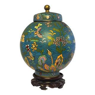Vintage Asian Blue Ginger Jar For Sale