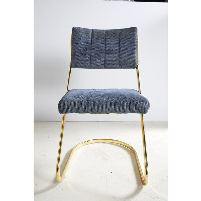 Brass Set of Six Vintage Brass Cantilever Dining Chairs by Douglas Furniture For Sale - Image 8 of 12