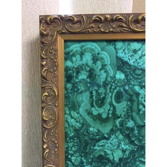 Burl Malachite Veneered Mirror For Sale - Image 4 of 7