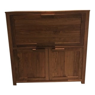 De La Espada Walnut Desk Cabinet For Sale