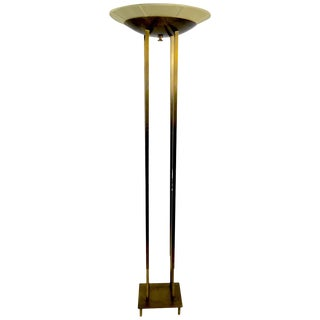 Brass Torchiere by Stiffel For Sale