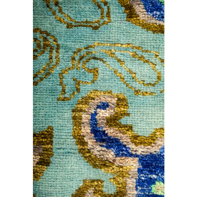 """Suzani Hand Knotted Area Rug - 3'1"""" X 5'2"""" - Image 3 of 3"""