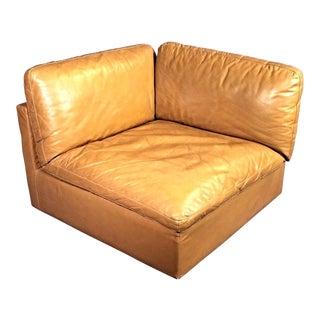 Zanotta Italy Lounge Corner Chair For Sale