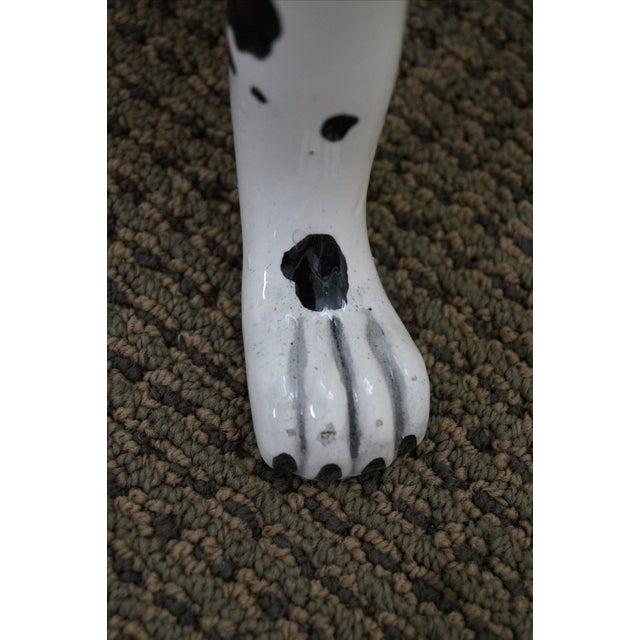 Ceramic Vintage Italian Pottery Dalmatian Dog Statue For Sale - Image 7 of 10