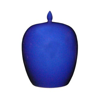 Simple Modern Handmade Plain Navy Blue Glaze Porcelain Vase Jar vs012S Blue