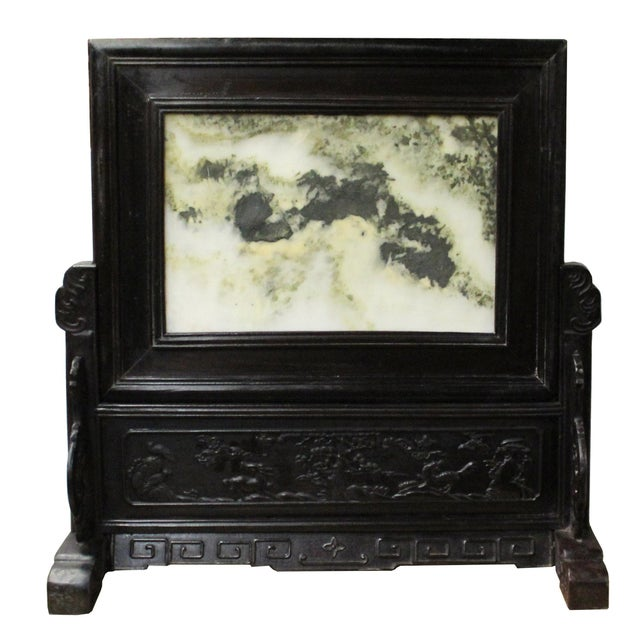 Brown Chinese Dream Stone Fengshui Rectangular Table Top Display Art For Sale - Image 8 of 10