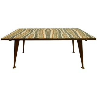 Richard Blow for Montici Quartz and Bronze Coffee Table For Sale