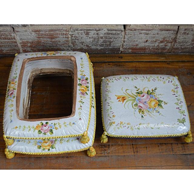 Vintage Faux Pouffe Terracotta Garden Seat - Image 11 of 11