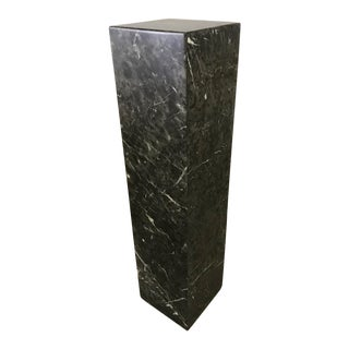 Modern Black Marble Pedestal For Sale