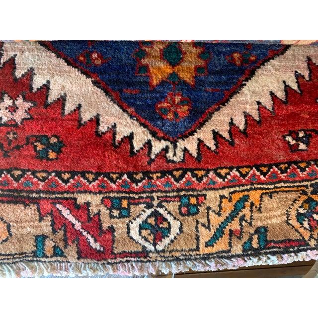 1990s Vintage Persian Kazak Floor Runner-3'5'x9'8' For Sale - Image 5 of 10