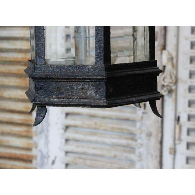 French Iron and Glass Lantern - Image 2 of 7