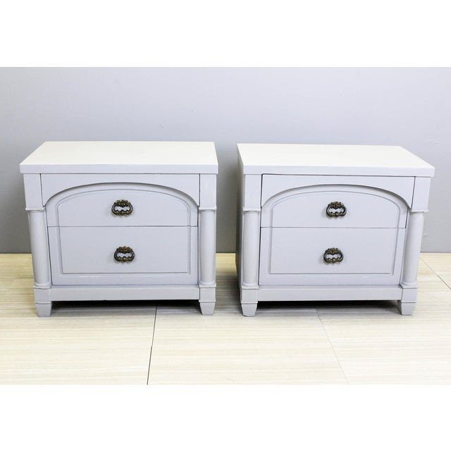 Mid-Century Modern Mid-Century Modern Walnut Nightstands - A Pair For Sale - Image 3 of 10