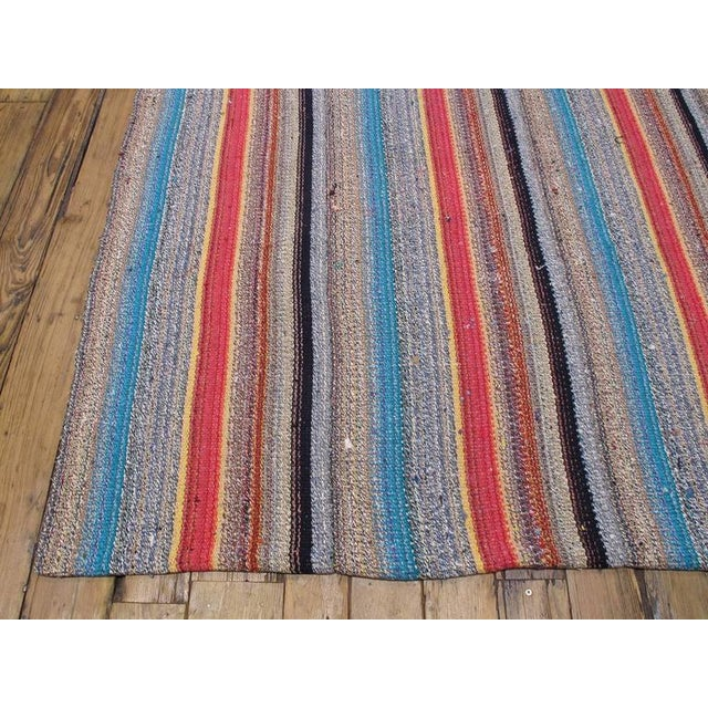Islamic Large Kilim with Colorful Stripes For Sale - Image 3 of 8