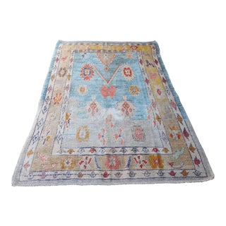 'Liana' Turkish Oushak Modern Heirloom Rug - 5′4″ × 7′6″ For Sale