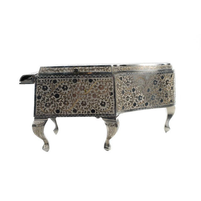 Silver Zimbalist Silver Plated Grand Piano Swiss Music Box For Sale - Image 8 of 9