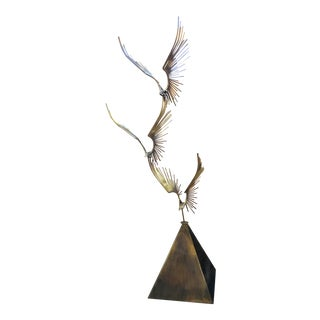 Curtis Jere Bronze Birds in Flight Sculpture