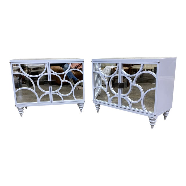 Vintage Patagonia Home White Lacquered Chests - a Pair For Sale