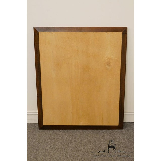 Cresent Solid Cherry Mirror For Sale - Image 4 of 7